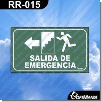Lee el articulo completo Rotulo Prefabricado - SALIDA DE EMERGENCIA IZQUIERDA